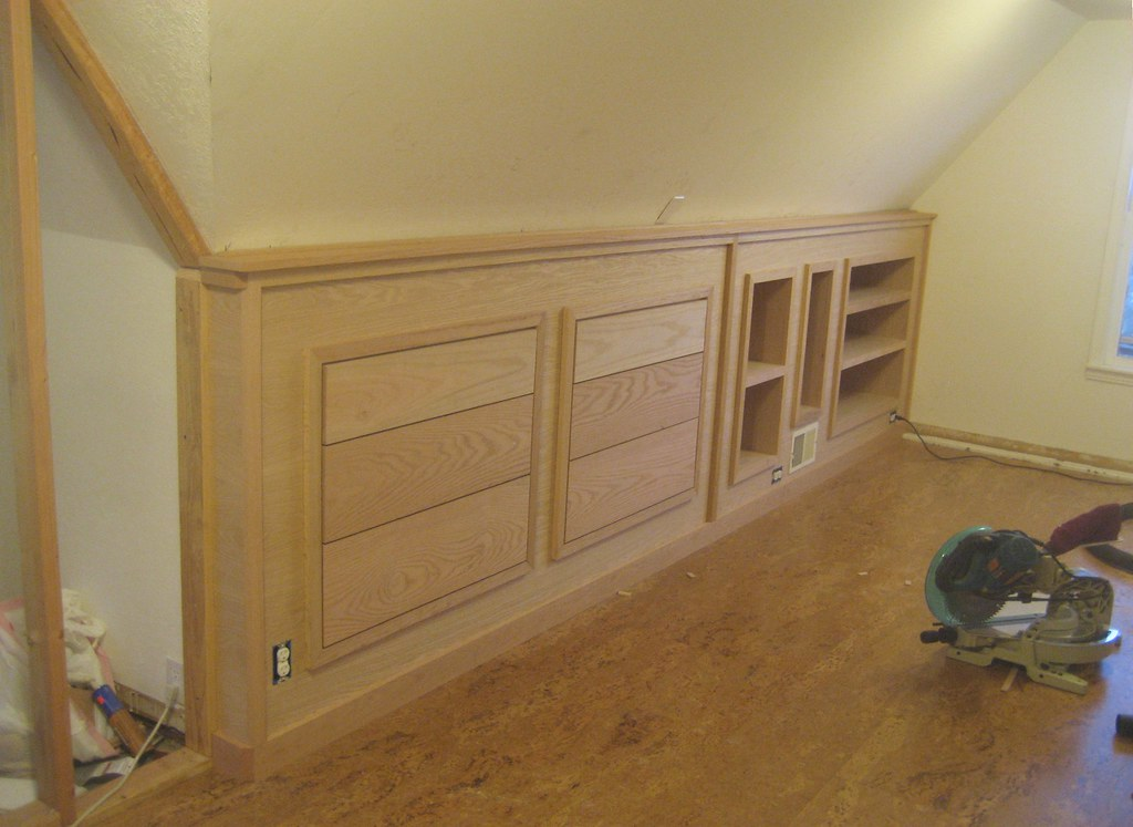 Ordinaire Finished Built In Knee Wall Cabinetry! (soukup) Tags: Bedroom Attic Cabinets