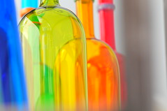 Colored Bottles Transposed (Viewminder) Tags: art love glass fun artist bottles desire kindness blown voluptuous roundness colr hynotizing