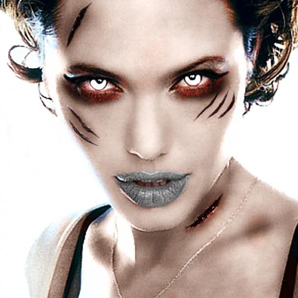 Angelina jolie en Zombie by Grafolog