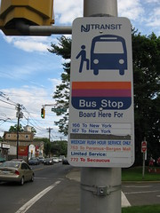 NJ Transit bus stop info
