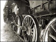 Steam Engine Graveyard (atomhirsch) Tags: schnee winter bw friedhof snow graveyard rust snowstorm locomotive blizzard rost brandenburg steamengine dampflokomotive schneesturm lokomotive dampf