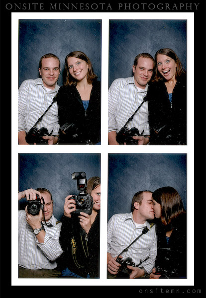 Kristen and David in photobooth