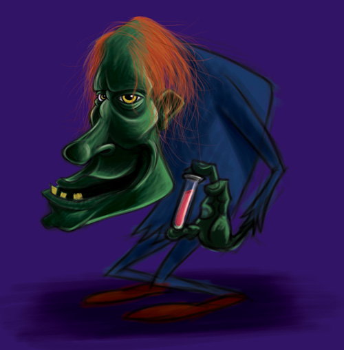Monster Monday: Cartoon Igor Character Sketch