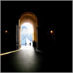 Stargate ~ La porte des toiles ~ Le Louvre ~ Paris ~ MjYj (MjYj) Tags: city blue light man motion black paris reflection sexy love contrast wonderful dark sens cool fantastic gate pretty solitude noir alone close pyramid who top mort or traces pluie course bleu reflet spy much stargate too trop lelouvre stardust 007 homme antre maninblack passant knew poussires dor peur poursuite djin encounters espoir zro blueribbonwinner savait lhomme poussire dingue manwhoknewtoomuch passionphotography raide anawesomeshot dtoile hommeennoir ipyfp mjyj poussiresdtoile lhommequiensavaittrop