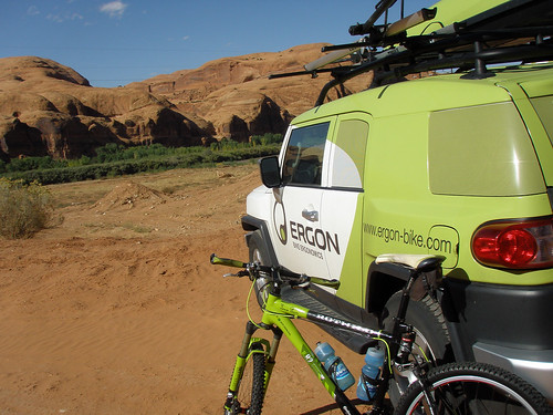 Parked and ready to ride in Moab