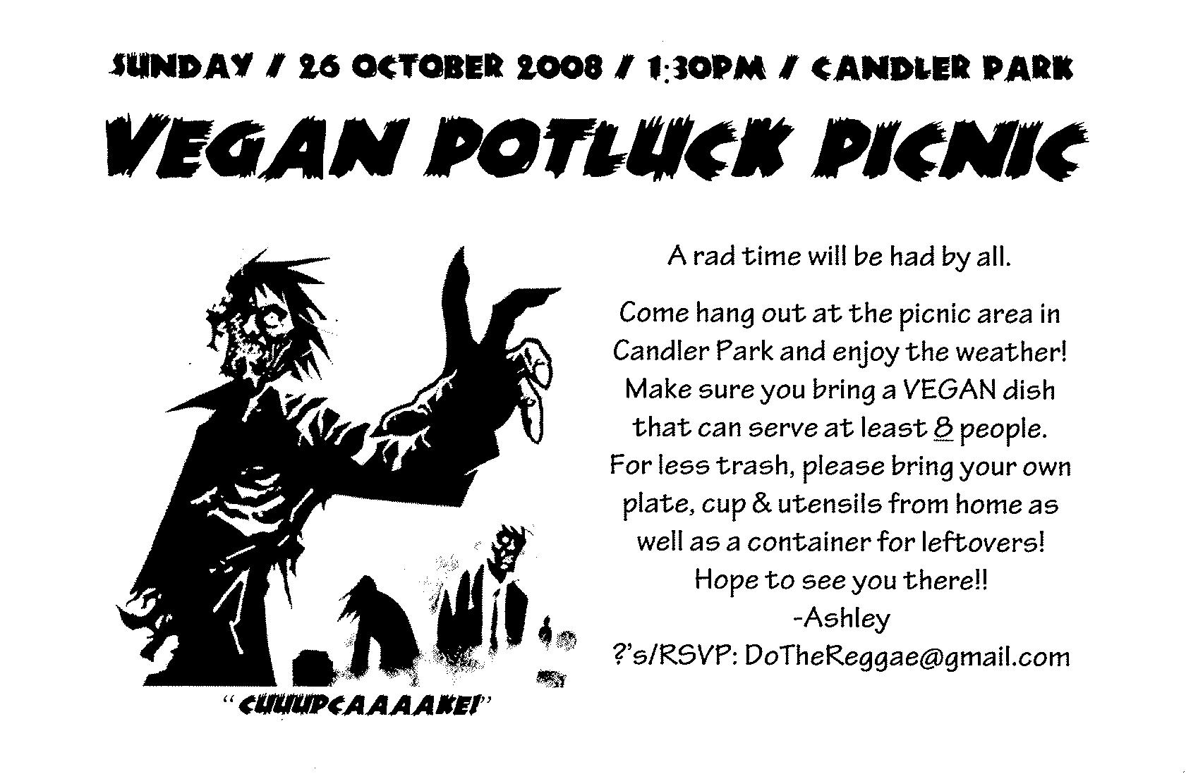 october vegan potluck
