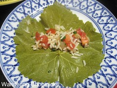 Dolmades with Rice, Tomatoes, and Onions 3 (wanderingchopsticks) Tags: leaves greek rice tomatoes onions vegetarian grape dolmades wanderingchopsticks