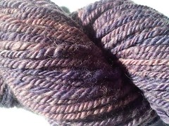 Close up of Purple Nurple yarn