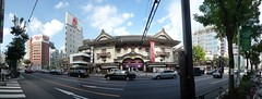 歌舞伎座、晴海通り