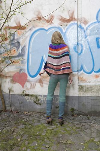 knit poncho pants