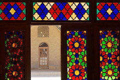 Nasiral Molk Mosque (damonlynch) Tags: door building art window glass architecture persian iran islam religion stainedglass mosque shiraz iranian shiite nasiralmolkmosque