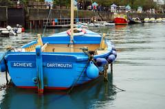 Achieve (dachalan) Tags: uk blue england river boat unitedkingdom devon hero winner thumbsup dart dartmouth dinghy riverdart kingswear buoyant babymomma dachalan nikond40x photofaceoffwinner pfogold herowinner