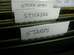 Filing stamps and stickers