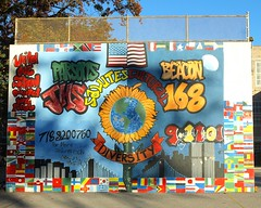 Cultural Diversity Mural, Parsons Beacon JHS 168, Flushing Queens NYC (jag9889) Tags: world county street city nyc school ny newyork art graffiti high mural artist 911 center queens junior wtc 2008 trade beacon parsons cru 168 jhs flushing tats 9112001 91101 10048 not zip10048 y2008 jag9889