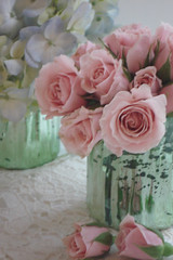 Shabby Roses in Mercury Glass par such pretty things