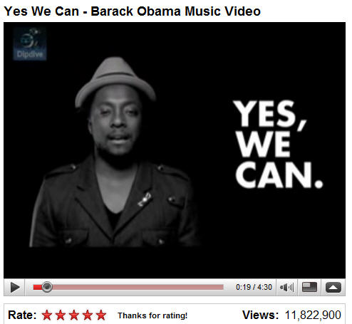 Barack Obama 'Yes We Can' Video by Will.i.am
