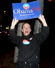 Obama Joy (sea turtle) Tags: seattle street usa america hope election president unitedstatesofamerica crowd joy broadway happiness 2008 obama capitolhill mania 08 barackobama obamania happyamericans