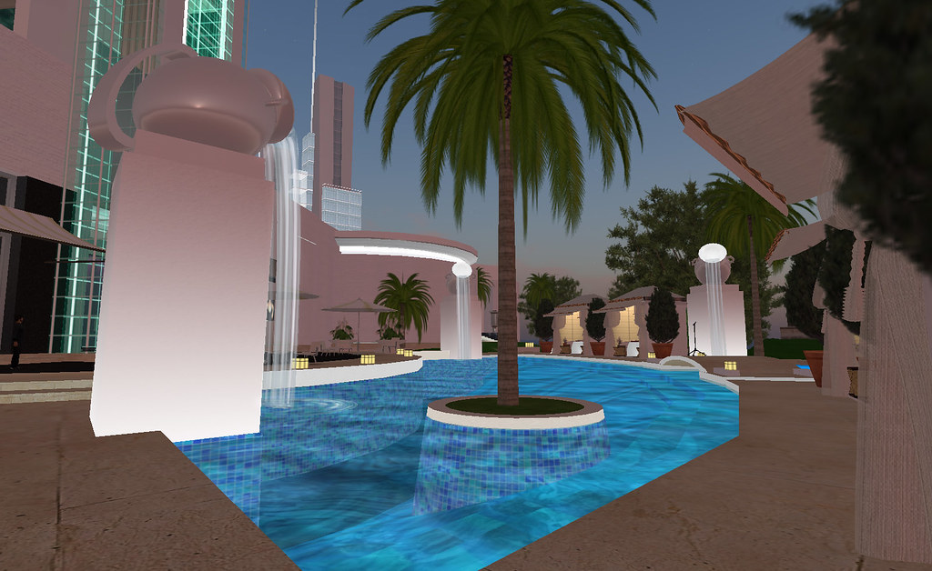 Casablanca Boulevard:  Casablanca Hotel  - the pool