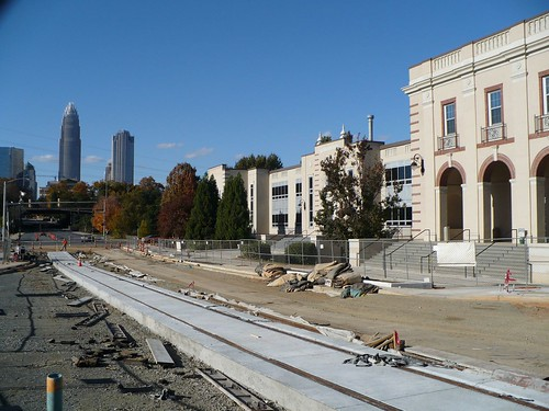 Elizabeth Ave Charlotte Streetcar Construction 7