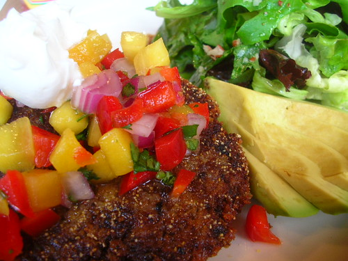 Black Bean Cakes with Mango Salsa from Bread and Ink on Hawthorne. I ...