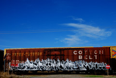Sworne (All Seeing) Tags: graffiti stop amc lib icu sworn cottonbelt kmo ssw e2e end2end sworne swornes