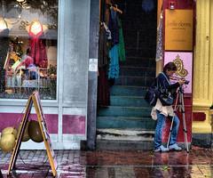 Vermont (artsy_lady2000) Tags: portrait wet rain reflections vermont steps boutique shops churchstreet gayle marketsquare flickrific