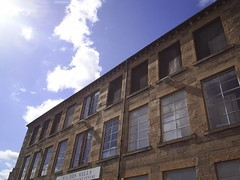 Wilton Mill, Abandoned - Hawick (//starkravenmad) Tags: windows sky reflection mill abandoned clouds shadows wilton hawick