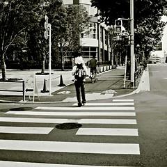 (sinkdd) Tags: road street urban bw film monochrome japan analog tokyo blackwhite nikon 28mm mf  nikkor manualfocus c41  newfm2 66 streetsnap nikkor28mmf28 nikonnewfm2 ildord sinkdd