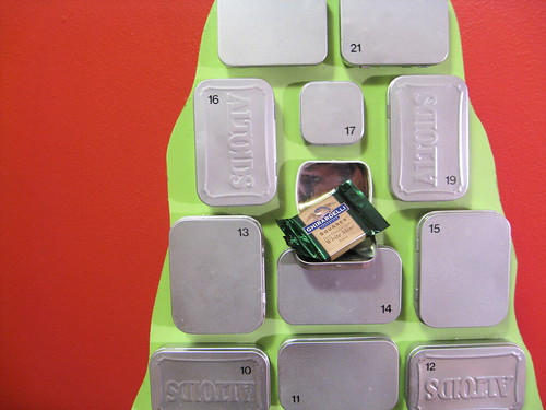 Altoids Advent calendar (detail)