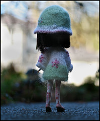 ~*~ (jillybug ~) Tags: holiday hat embroidery knit mohair polly blythe custom cinders hokeypokey pde azone sweatercoat clouche byjillybug