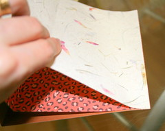 Attaching paper to paper