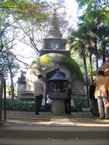 Shrine next to the Face of Buddha