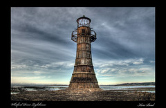Whitford Point Lighthouse (funkysuite) Tags: lighthouse wales nikon south gower sands hdr d90 whitford pixelmator whitfordpoint nikkor18105mmvr dsc3747tonemapped3 itsin14
