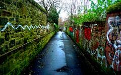 No Escape (Vo0Ds) Tags: lamp dark point graffiti dangerous ally edinburgh post dirt vanishing picnik voods