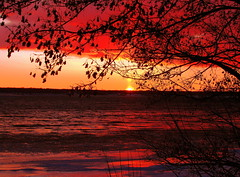 Saint Mary's River Sunset (Billy Wilson Photography) Tags: sunset red favorite sun sunlight lake snow ontario canada color colour nature water beautiful beauty silhouette yellow canon reflections river photography evening amazing nice scenery colorful flickr pretty december colours view purple unitedstates natural bright michigan relaxing calming sunsets peaceful canadian powershot greatlakes american serenity colourful soo 1001nights northern upperpeninsula saultstemarie northernontario algoma serenitynow chippewacounty internationalborder supershot canonphotography sx110 photographyrocks supershots saintmarysriver colorphotoaward roseaward excapture goldstaraward goldstarawards flickrestrellas arealgem gr8photo flickrlovers photographersgonewild colorsinourworld dragonflyawards thebillster23