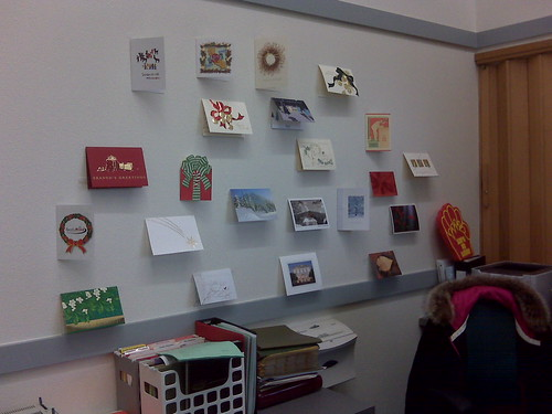 Cards on my wall at work