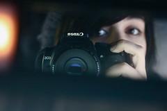 hmm.. (sam desantis) Tags: selfportrait me car 50mm december sam bored haha 2008 christmastime canonrebelxti