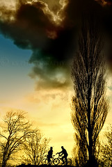 La Vita  Bella (KY-Photography) Tags: sunset sky ontario canada tree love nature bicycle silhouette clouds scotland nikon couple glasgow ky guelph dramatic romance romantic nikkor khalid allrightsreserved kal lifeisbeautiful lanarkshire 50mmf18af explored d80 nikond80 kyphotography