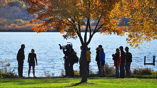 Taping a Travel Channel Segment at Lake Wingra Saturday Afternoon