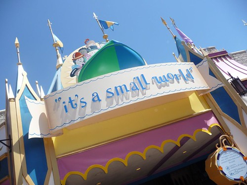 outside of small world.