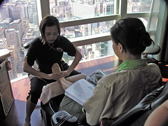 Foot massage (Roving I) Tags: tourism hongkong lifestyle views leisure hotels magazines relaxation footmassage spas therapists