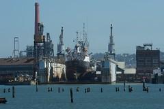 Pier 70, The Sagamore and the USS Reclaimer 5-2011 (daver6sf@yahoo.com) Tags: sanfranciscobay drydock portofsanfrancisco pier70 mothballfleet baeshipyards sigamore ussreclaimer