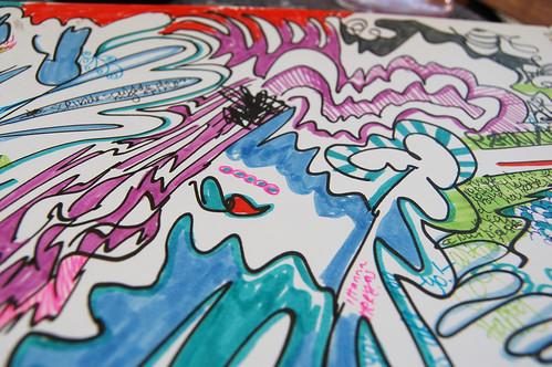 Music doodle detail