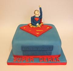Superman Cake (madebymariegreen) Tags: birthday superman fondant vanillaspongecake handmademodel