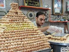 Bakery selling baklava in Gaza