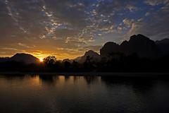 Magical Limestone Cliffs (Vang Vieng, Laos) (jmhullot) Tags: laos vangvieng limestonecliffs namsong jmhullot