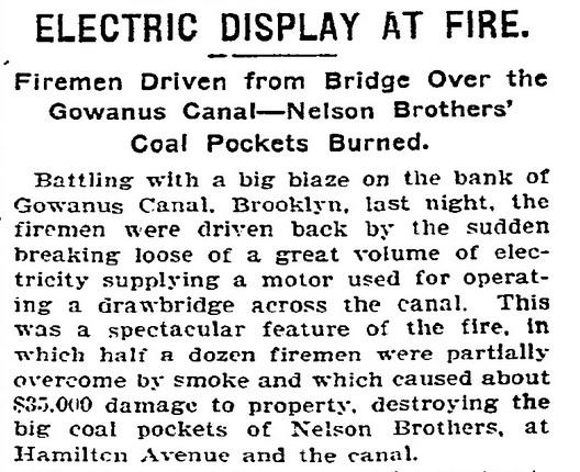 NYT Gowanus Coal Pockets Fire Story