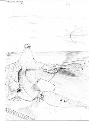 Dibujo Surf (original a lápiz)