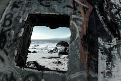 maris mortui (chuchi carmelo) Tags: ocean sanfrancisco california beach grafitti landsend 16mmfisheye