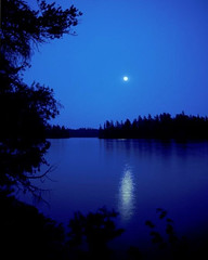 Moonlight Madness (joehall45) Tags: moon lake reflection poetry poem theblues fanflickrtastic